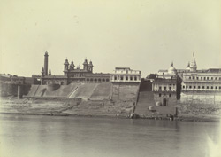 Bhadaini water works [and] Rani Sursar Ghat [Benares].